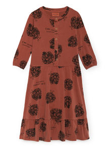 Bobo Choses - Clearly Confused Buttons Dress, Burnt Ochre