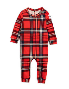 Mini Rodini - Check jumpsuit, red