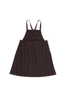 Tinycottons - grid flannel sl dress, plum