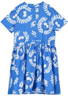 Beau LOves - Button Front Dress Ping Pong AOP, Ink Blue