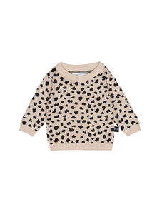 Huxbaby - Leopard Knit Jumper, Biscuit
