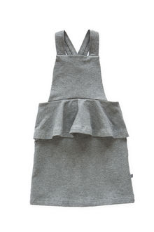 Kaiko - Peplum Dress, Dark Grey Mel.