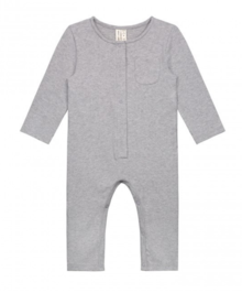 GRAY LABEL -  Baby L/S Playsuit, Grey Melange