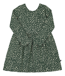 Kaiko - Wild Dots Dress Ls, Moss