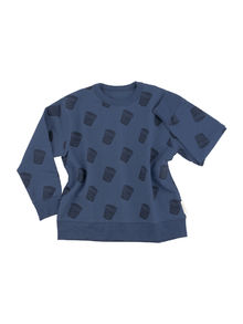 Tinycottons - Ice cream pots FT sweatshirt, light navy/navy