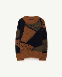 TAO - Arty bull kids sweater, deep brown