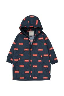 Tinycottons - 'BE BOLD' WINDBREAKER navy/red