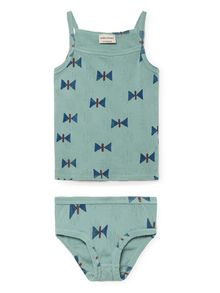 Bobo Choses - Butterfly Set T-Shirt and Brief, green