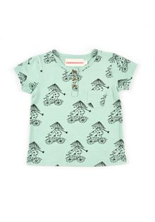 Nadadelazos - Buttoned Xe dap tee, light watergreen