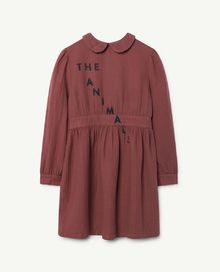 TAO - Canary kids dress, maroon navy the animals