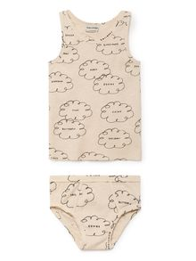 Bobo Choses - Clouds Set T-Shirt and Slip, off white