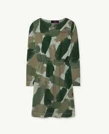 TAO - Crab kids dress, green camouflage