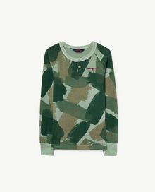 TAO - Deer kids T-shirt, green camouflage