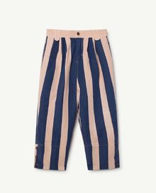 TAO - Elephant kids pants, rose blue stripes