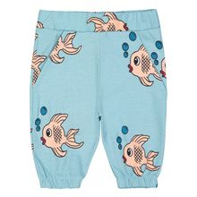 Hugo loves Tiki - Knee Sweat Shorts, Blue Fish