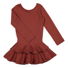 Gugguu - Frilla dress, Bark Brown