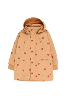 Tinycottons - 'HAPPY FACE' JACKET camel/red