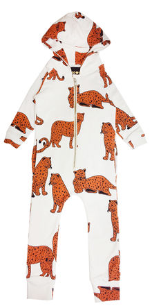 Hugo loves Tiki - Hooded jumpsuit Kip&Co. Cheetah