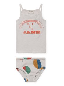 Bobo Choses - Little Jane Set T-Shirt and Brief, offwhite