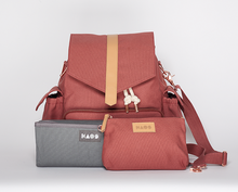 Kaos - Baby changing bag, marsala