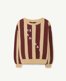 TAO - Bear kids sweatshirt, yellow maroon