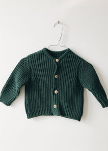 Monkind - Moss Knit Cardigan, Moss Green