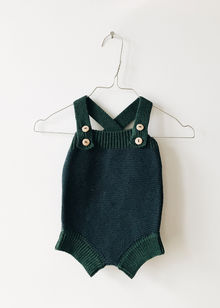 Monkind - Moss Knit Romper, Moss Green