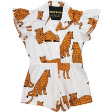 Hugo loves Tiki - Ruffled romper Kip&Co. Cheetah