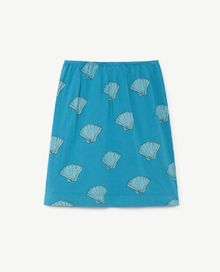 TAO - Kitten kids skirt, blue shells