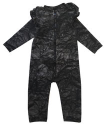 Romey Loves Lulu - Black Bag Ruffled Space Suit, black