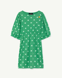 TAO - Swallow kids dress, green polkadots 000873-028