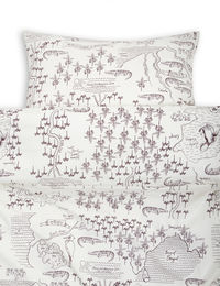 Mini Rodini - Croco map bed set jr/adult, offwhite