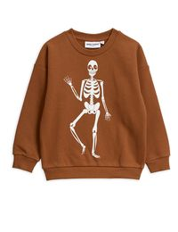 Mini Rodini - Skeleton sp sweatshirt, Brown