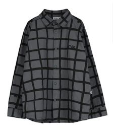 Beau LOves - Grid shirt, charcoal