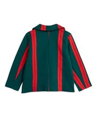 Mini Rodini - Stripe sweatblazer, Green
