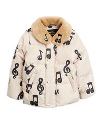 Mini Rodini - Notes puffer jacket, Offwhite