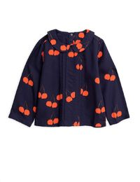 Mini Rodini - Cherry woven pleat blouse, Blue