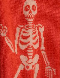 Mini Rodini - Skeleton tights, red