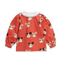 Mini Rodini - Ritzratz wowen blouse, red
