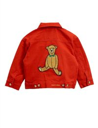 Mini Rodini - Twill teddybear jacket, Red