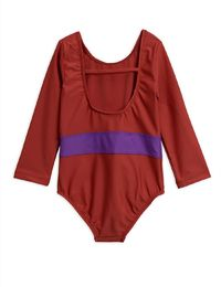 Mini Rodini - Butterfly ls swimsuit UPF 50+, Red