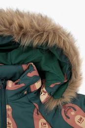 Tinycottons - BEARS PADDED JACKET, bottle green/brown
