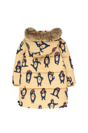 Tinycottons - BEARS PADDED JACKET, sand/true navy