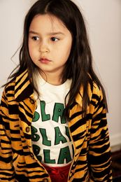 Mini Rodini - Tiger velour jacket, brown
