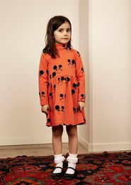 Mini Rodini - Ritzratz aop turtleneck dress, red