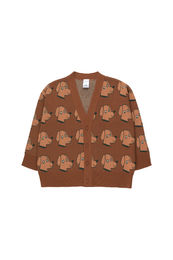 Tinycottons - DOGS CARDIGAN, dark brown/cinnamon