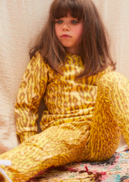 WILDKIND KIDS - PATTI SWEATPANTS, Leopard yellow