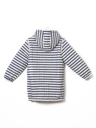 Bobo Choses - Reversible padded anorak, navy stripes