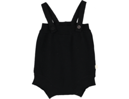 Mini sibling - Knitted body with suspenders, black