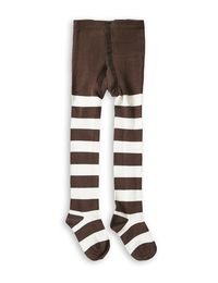 mini rodini - Stripe tights, brown